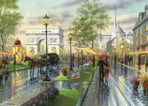 Couple Walking in Rain - 5D DIY Painting