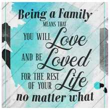 Load image into Gallery viewer, Family love Quote Diamond Art