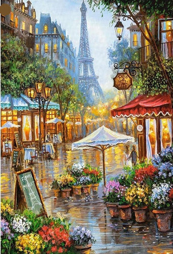 Paris Market View Diamond Painting