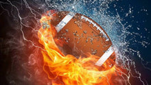 Load image into Gallery viewer, Fire And Water American Football