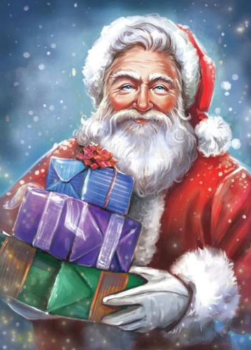 santa Clasue with Gifts Diamond painting kit