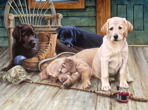 Labrador Dog - 5D Diamond Painting