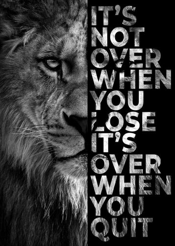 Lion Motivational Quote painting kit