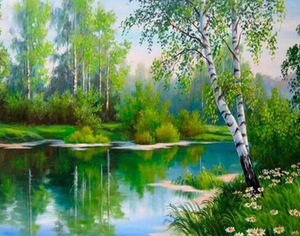 Canal Scenic View - Paints by Diamonds