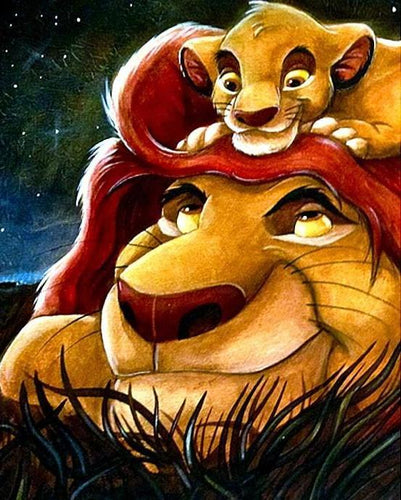Simba Diamond Painting Kit