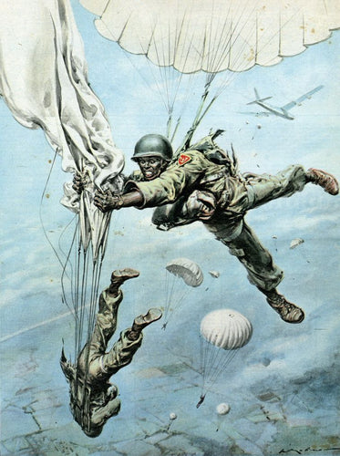 Soldiers Diving From The Sky