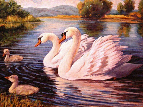 Swans DIY Diamond Painting