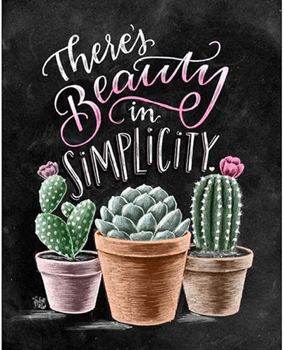 There's beauty in simplicity Quote