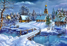 Load image into Gallery viewer, Winter Snowfall - Diamond Art Paint