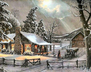 Winter Scene DIY Painting Kit