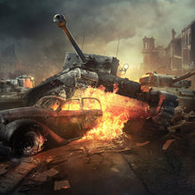 Load image into Gallery viewer, World Of Tanks Paint By Diamond