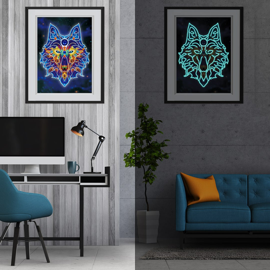 Glow in the dark Wolf Diamond Kit