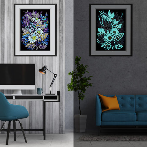 Glowing Floral Diamond painting