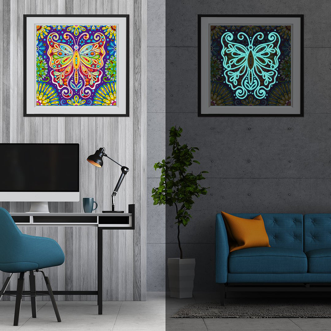 Glow in the dark Butterfly Diamond Painting