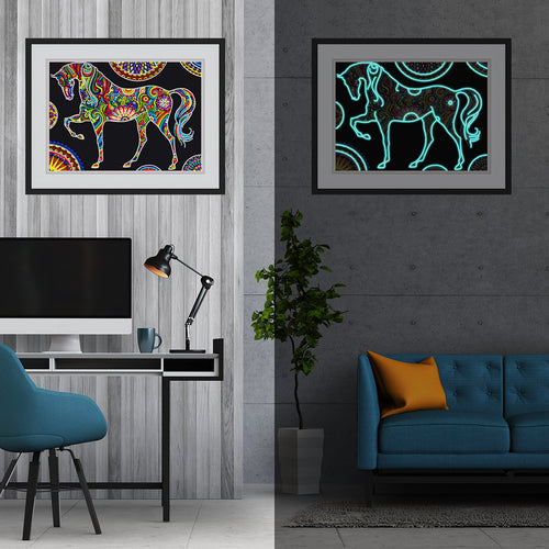 5D Glow in the dark Special Horse Painting