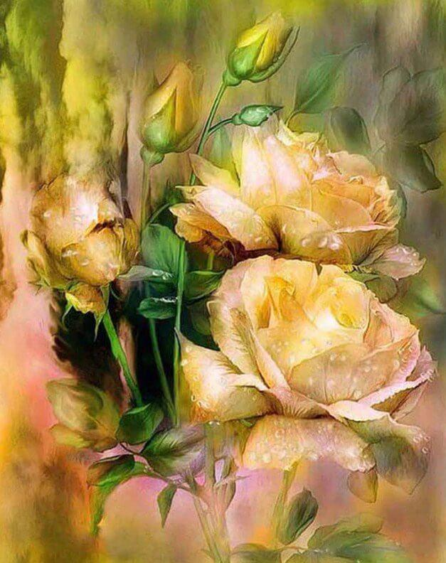 Roses DIY Diamond Painting Kit