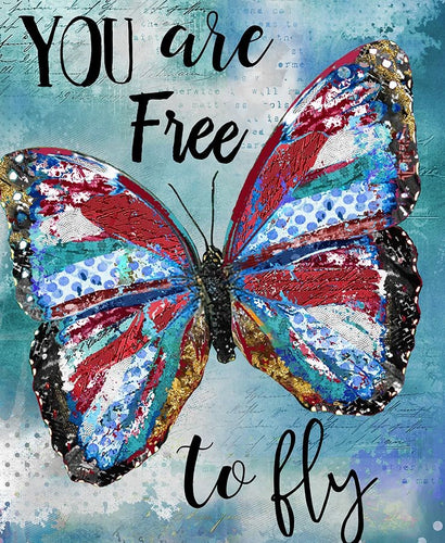 You are free to fly Motivational quote