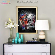 Load image into Gallery viewer, Skull & Tiger Diamond Art Kit - Diamond Painting
