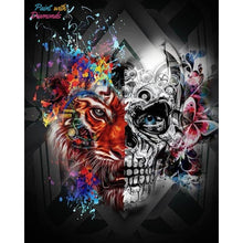 Load image into Gallery viewer, Skull & Tiger Diamond Art Kit best diamond painting