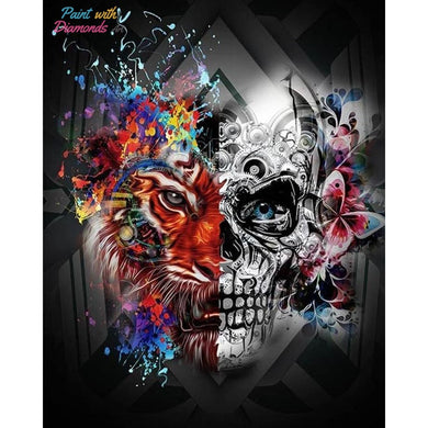 Skull & Tiger Diamond Art Kit best diamond painting