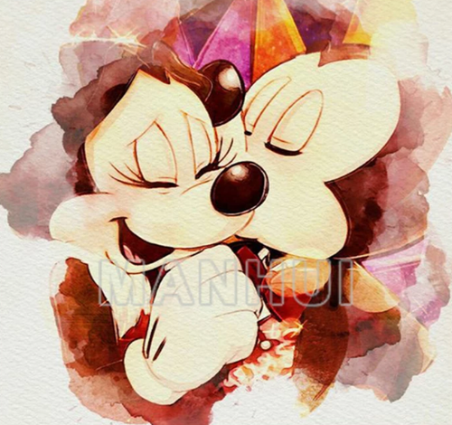 love Mickey and Minnie - 5D Diamond Painting