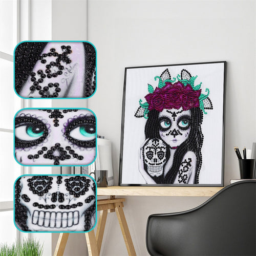 Beauty and Skull - Special Diamond Painting
