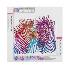Load image into Gallery viewer, Zebra's Colorful Stripes - Special Diamond Painting