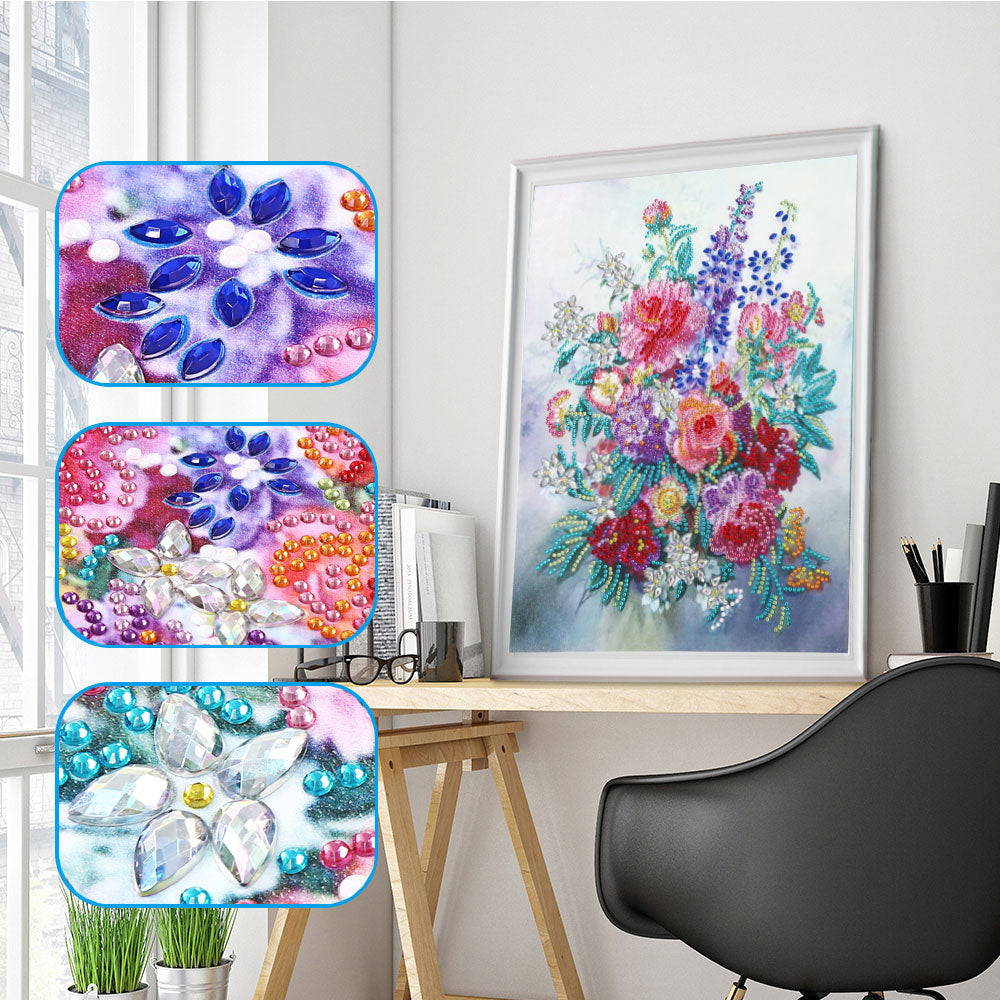 Beautiful Flowers - Special Diamond Painting
