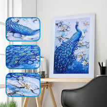 Load image into Gallery viewer, Blue Peacock - Special Shaped Diamond Painting