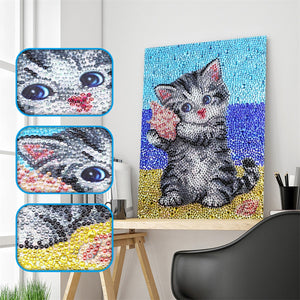Cat on Beach - Special Diamond Painting