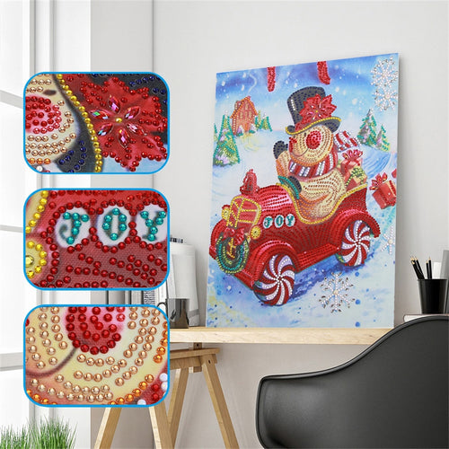 Christmas Snowman Santa Claus - Special Diamonds Painting