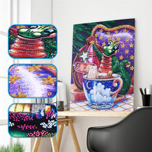 Load image into Gallery viewer, Dragon & Cup - Special Diamond Painting