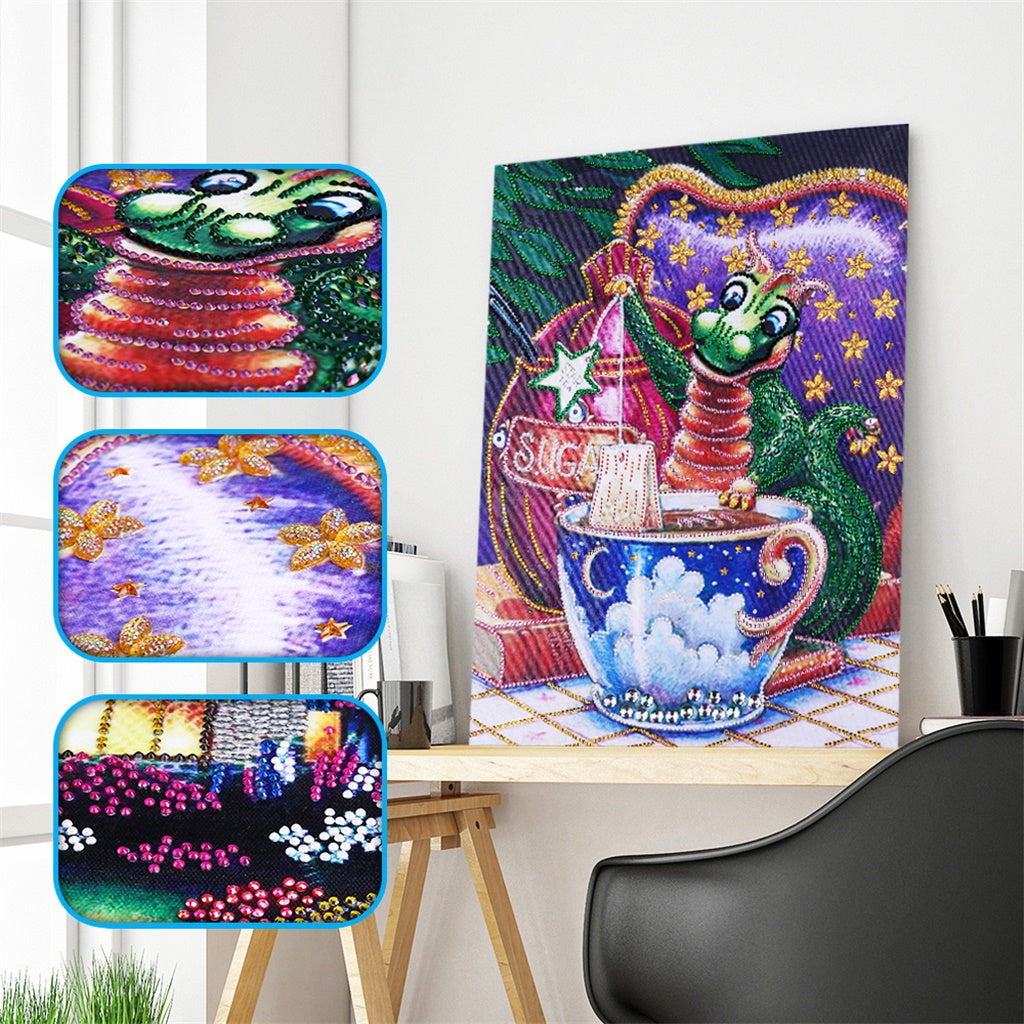 Dragon & Cup - Special Diamond Painting