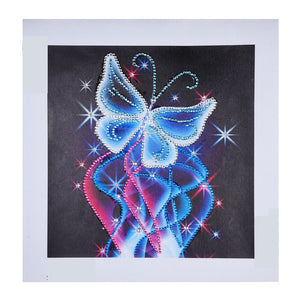 Neon Butterfly Crystal - Special Diamond Painting