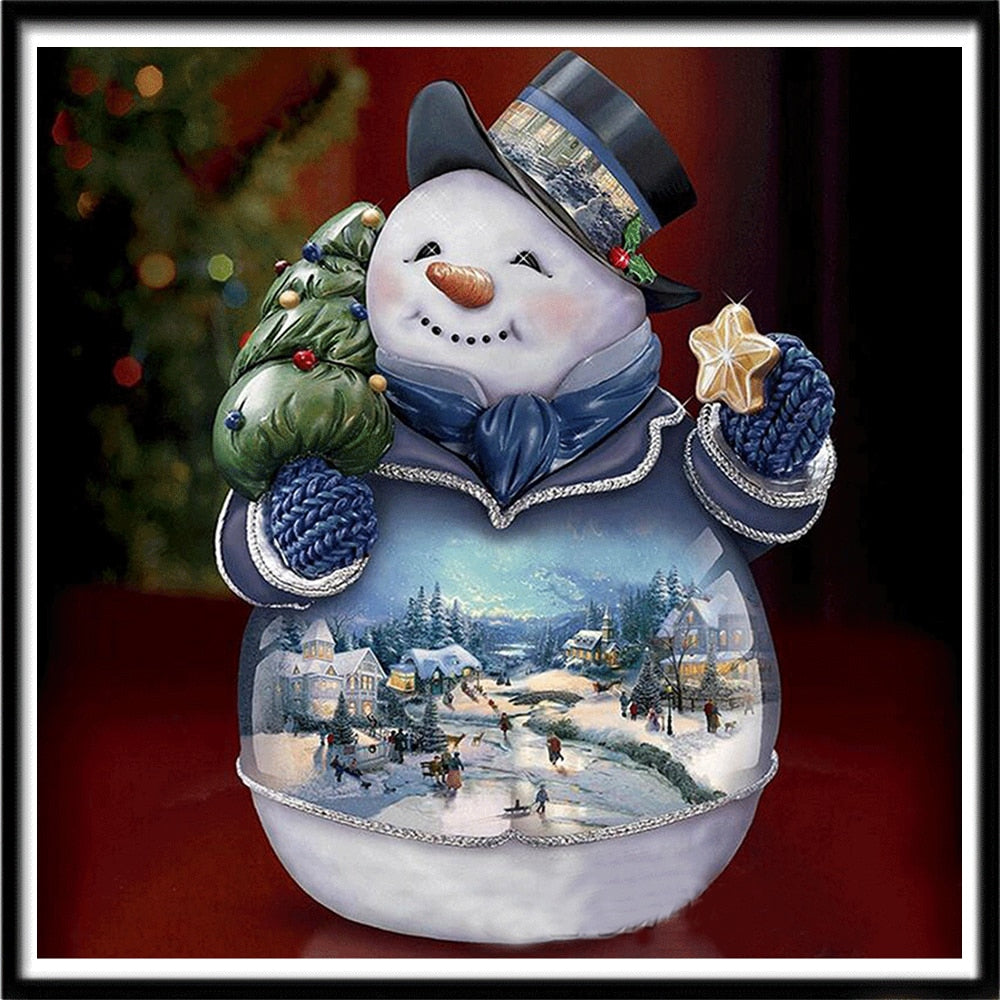 Snowman Magical Globe - Special Diamond Painting