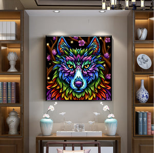 Colorful Wolf - Special Diamond Painting