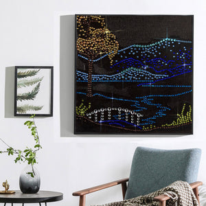 River&tree Landscape - Special Diamond Painting