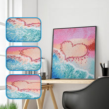 Load image into Gallery viewer, Love Heart at Beach - Special Diamond Painting