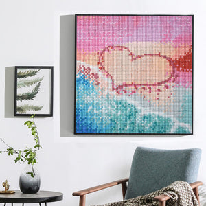 Love Heart at Beach - Special Diamond Painting