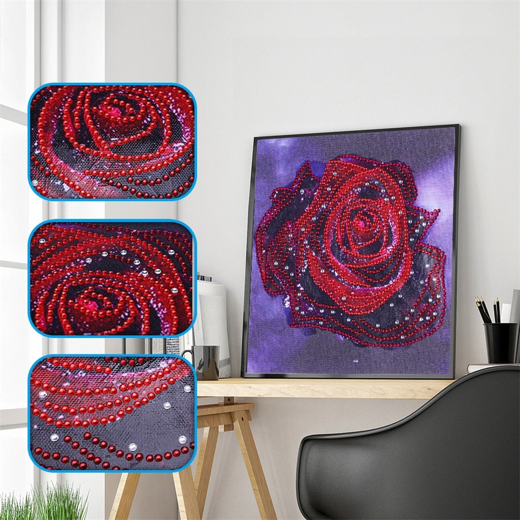 A Red Rose - Special Diamond Painting