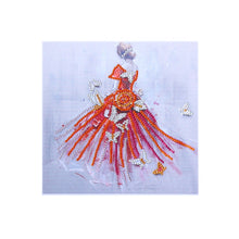 Load image into Gallery viewer, Red Dress Girl - Special Diamond Painting