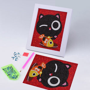 Adorable Black Cat - Special Diamond Painting