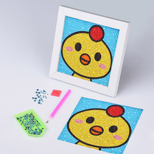 Cute Yellow Chicken - Special Diamond Painting