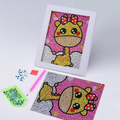 Cartoon Giraffe - Special Diamond Painting