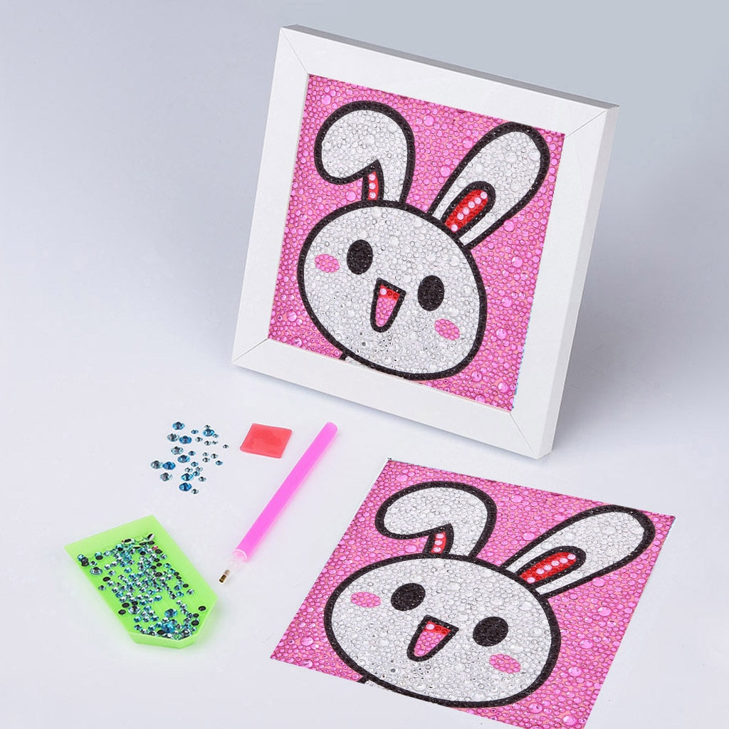 Anime White Rabbit Face - Special Diamond Painting