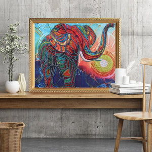 Raging Elephant - Special Diamond Painting