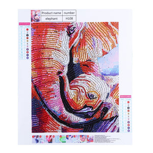 Adorable Elephant Family -  Special Diamond Painting