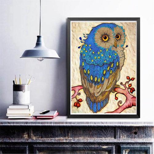 Blue Owl - Special Diamond Painting