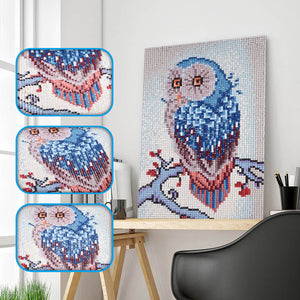 Owl Stand on Tree - Special Diamond Painting