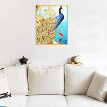 Load image into Gallery viewer, Golden Feather Peacock - Special Diamond Painting